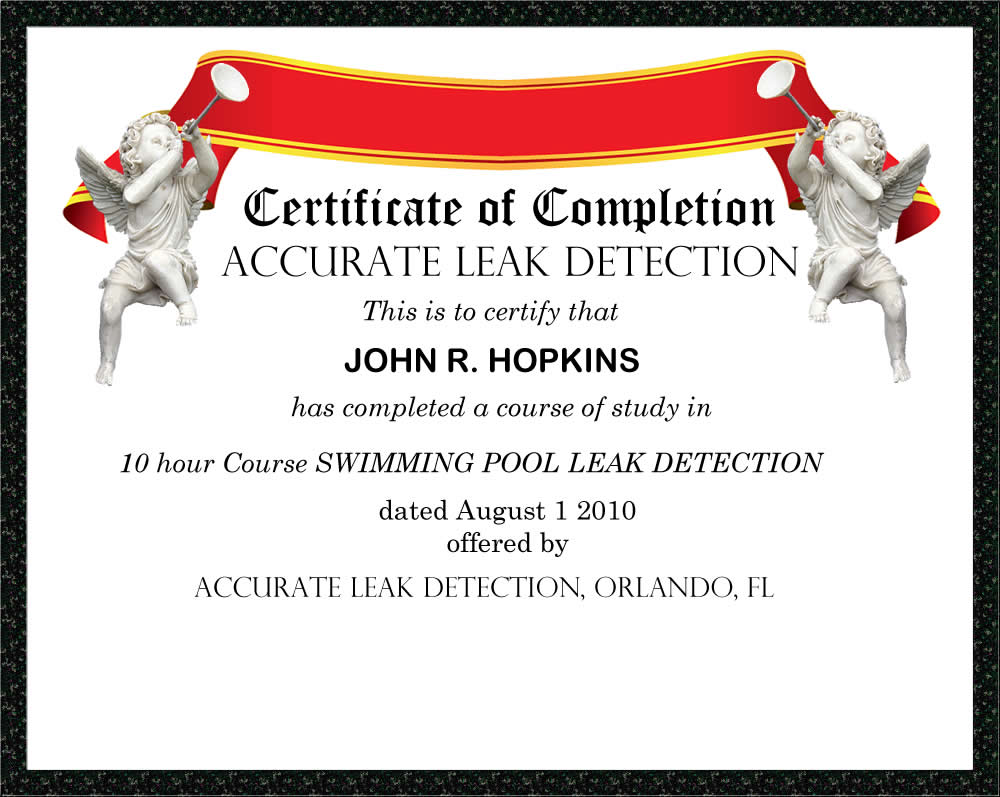 Leak Detection Training Swimming Pool Leak Detection And