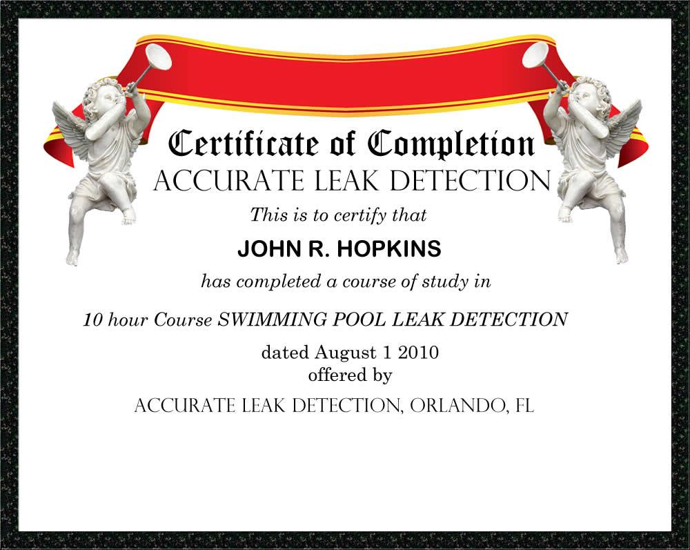 Leak detection training swimming pool leak detection and - Swimming pool maintenance training ...
